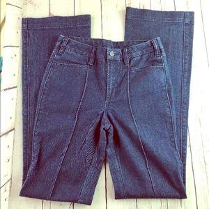 Tory Burch Women Flare Jeans Sz 27 Dark Wash